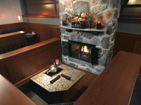 The Melting Pot: Fireplace table