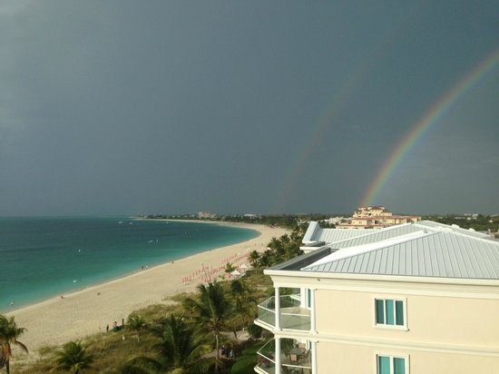 Seven Stars Resort & Spa: double rainbow after storm;view from our balcony
