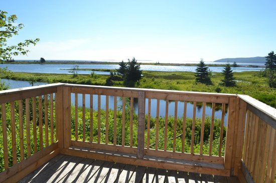 Cabot Shores Wilderness Resort: View from our yurt terrace