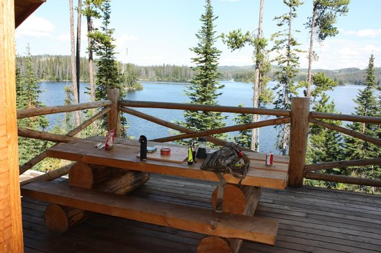 Oyama Lake Fishing Resort: View from our cabin
