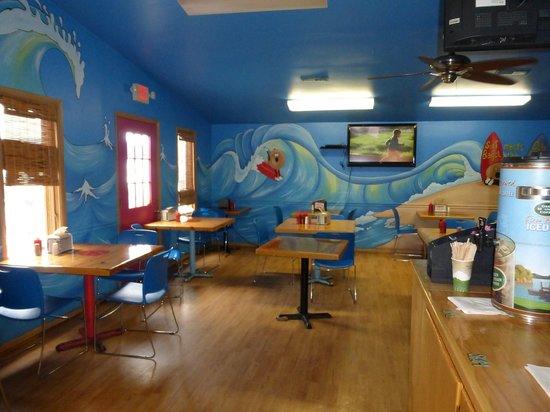 Surf Bagel And Deli: TV Dining Room #2 at Surf Bagel