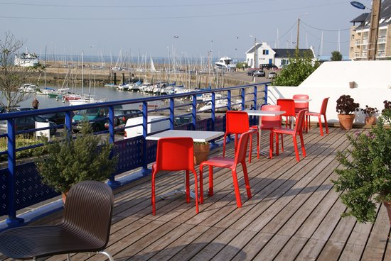 Hotel Port Haliguen: Breakfast terrace