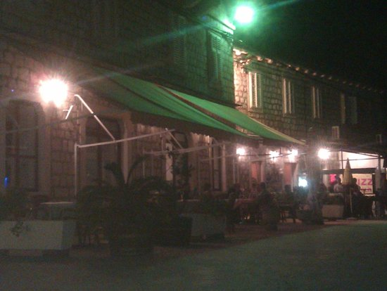 Evening outside Hotel Glavovic.
