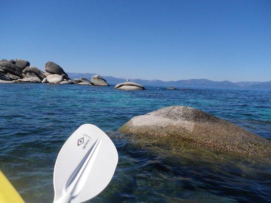 Tahoe Adventure Company : going thru the rocks