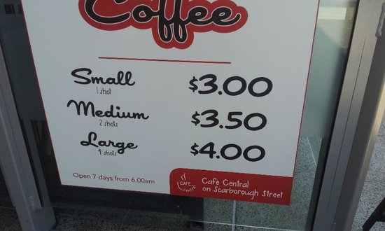 Cafe Central on Scarborough Street: Tasty coffee well made