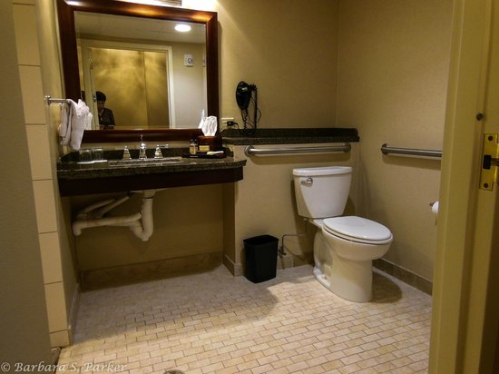 Wichita Marriott : Handicapped accessible bathroom