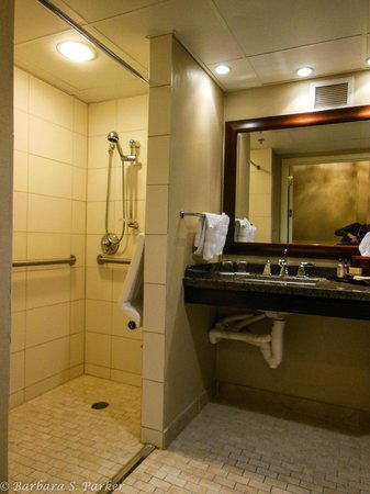 Wichita Marriott: Handicapped accessible bathroom