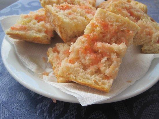 Garreta: Pan con tomate.
