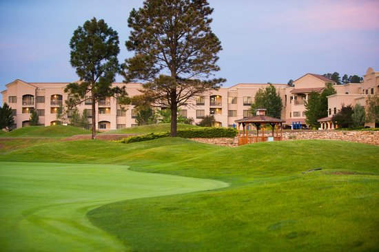 The Lodge at Sierra Blanca: View of hotel from golf course