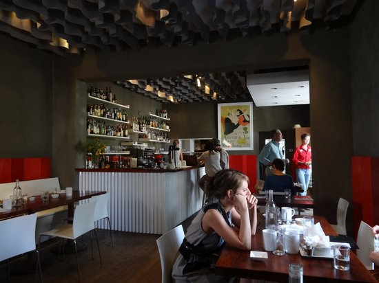 Cochineal: view of bar from dining room