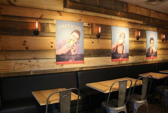 Seven Hens : Interior wood wall
