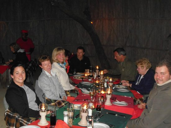 MalaMala Main Camp : Dinner in the boma