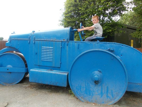 Plassey Holiday Park: The steam roller, Joel loved this.