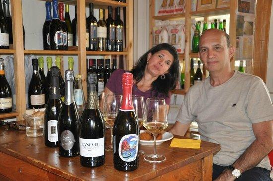 Prosecco tasting at Bar Alpino - Valdobbiadene