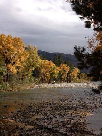 Durango Riverside Resort: looking down river