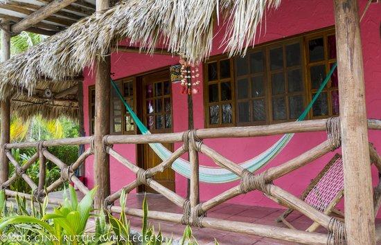 Hotel Casa Palapas del Sol : Casa Palapas del Sol--Hammock on a Room's Porch