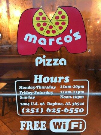 Marco's Pizza: Marco's Front Door