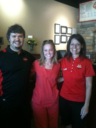 Marco's Pizza: Owners and First Customer 9-27-11