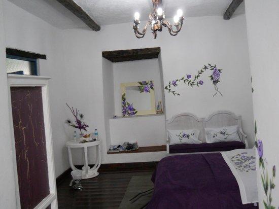 Casa de hacienda Su Merced: One room of suite with 1 dbl 2 twin beds.