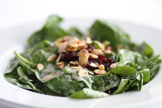 Newman's Pasta Cafe: Cranberry Spinach with spicy almonds and craisins
