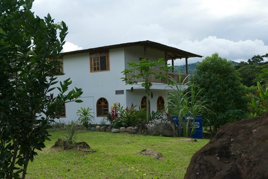 View of Banana Lodge as you approach from the road