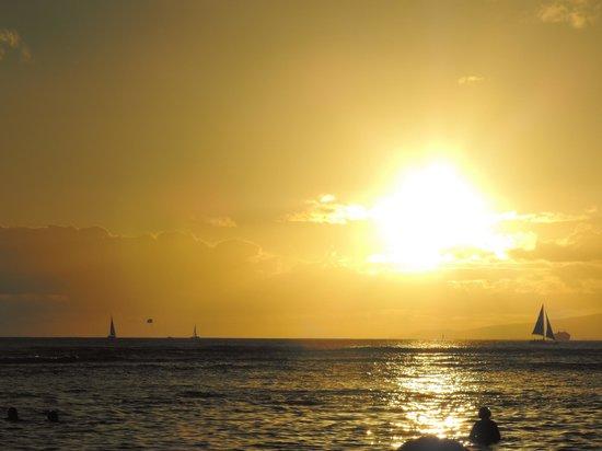 Sans Souci Beach Park: Sunset