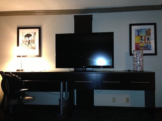 "Holiday Inn Boston-Bunker Hill: This is a 55"" LED, with all direct tv channels!!! Any channel you could imagine is available!!!!"