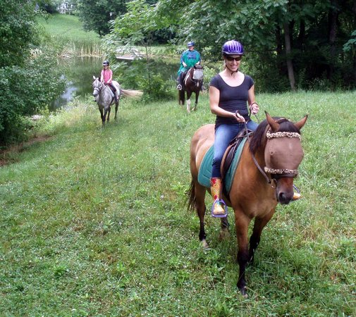 First Farm Inn Horseback Riding: Ride through the fields, around the ponds and in the woods at First Farm Inn.