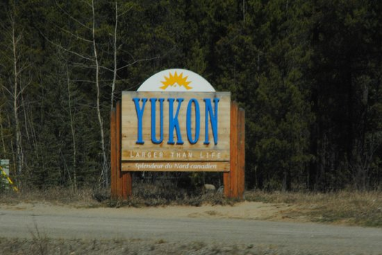 Robert Service Campground : Welcome to the Yukon