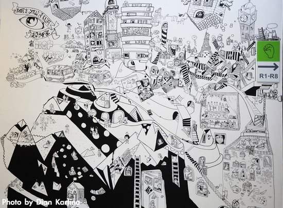 Hop Inn: Wall Painting by Supertext & Jane Lee