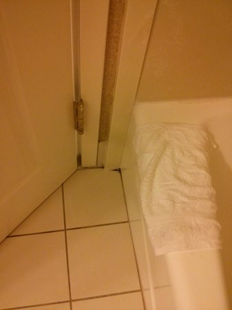 Wingate by Wyndham Wilmington: Between the tub and door