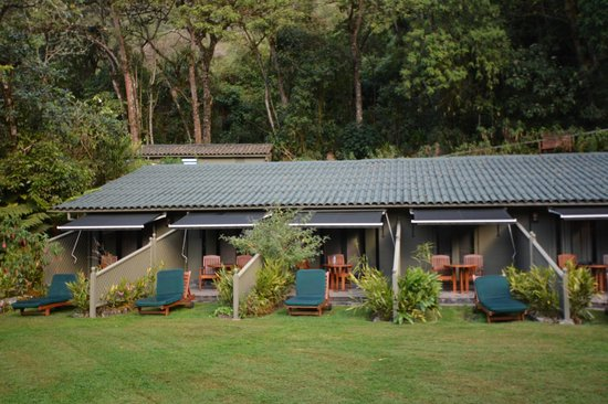 Belmond Sanctuary Lodge: Rooms with terraces. We stayed on the 2nd room from left to right of this pic room 39.  Great vi