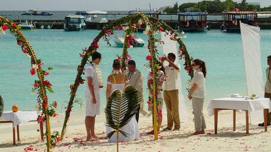 Sheraton Maldives Full Moon Resort & Spa: Beach wedding