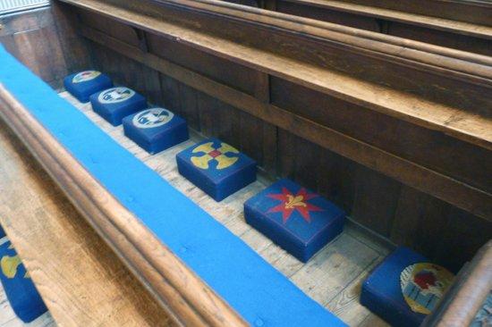 St Mary Redcliffe Church: particolare inginocchiatoio