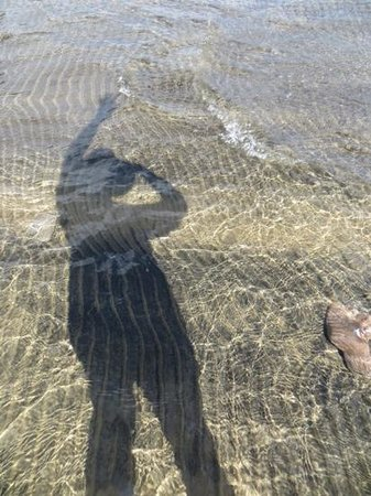 Kings Beach State Recreation Area: My shadow in the lake