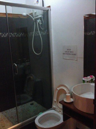 Rim Vang Guesthouse: Small bathroom but decent and clean