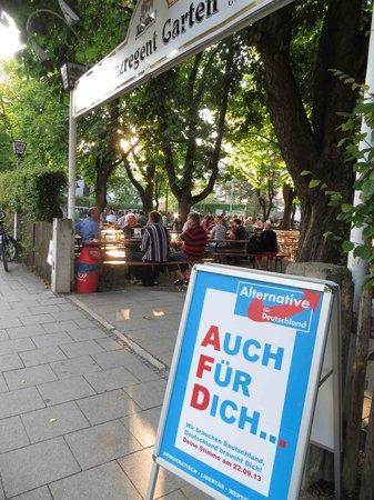 Prinzregent Garten : Großer BIergarten