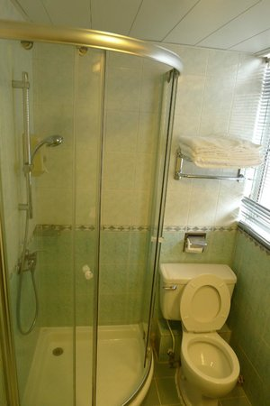 West Hotel: Small but clean bathroom