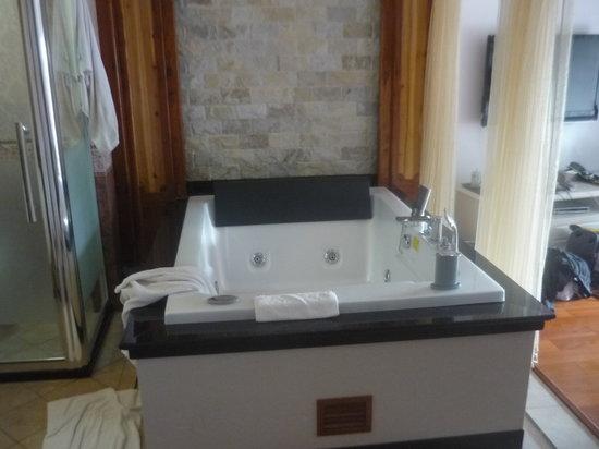 Bamboo House Resort : Whilpool im Zimmer links die Toilette