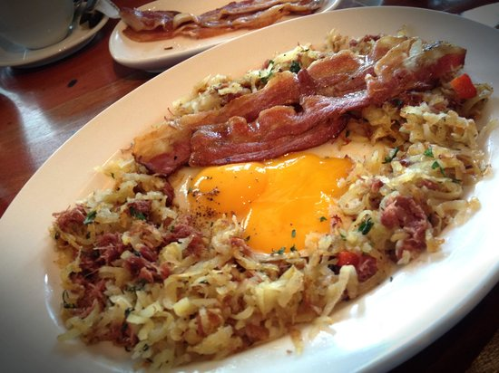 Goods diner: Hash Brown with an extra plate of Bacon