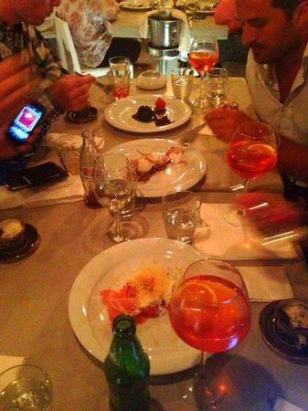 Phos Mykonos Restaurant: Some Desserts and Aperol Spritz for the stomache