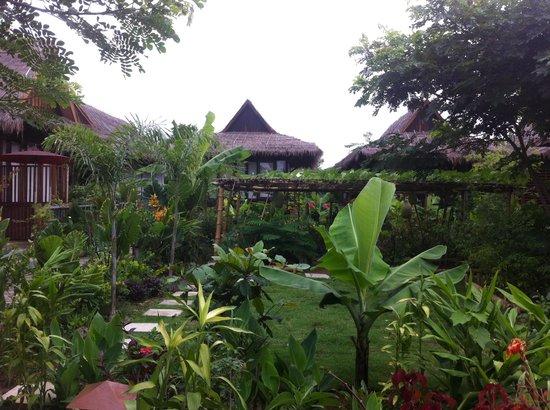 La Maison Birmane: Schitterende tuin (juli 2013)