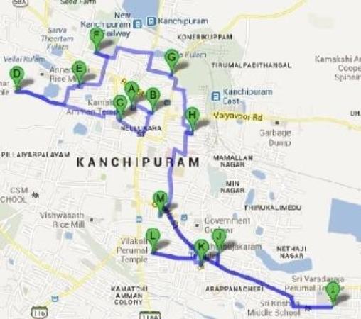 Kanchipuram Temple Route Map