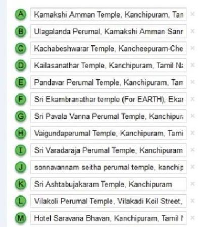Temple List