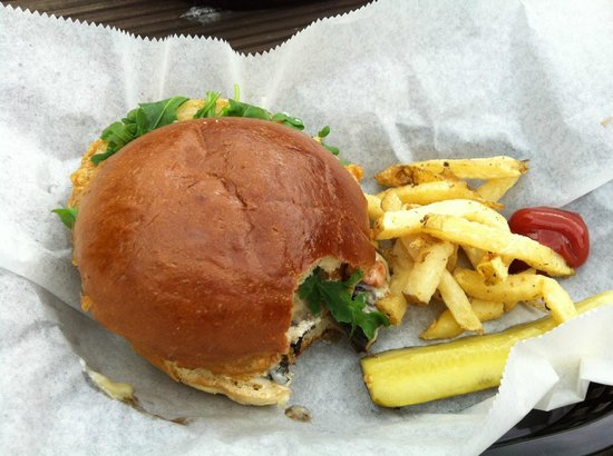 The Burger Brothers Bar & Grill: Veggie Burger at Burger Brothers