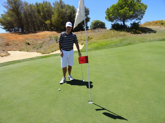 Onyria Palmares Golf : Tee shot on the 12th Missed a hole in 1 for a trip to Vegas