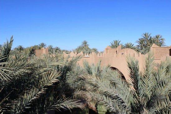La Rose Du Desert : Vue de la terrasse sur les bungalows