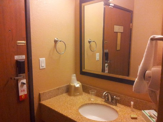 Super 8 Sheboygan: washbasin in the room