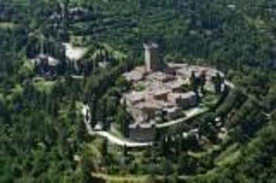 La Torre di Gargonza: vista di Gargonza dall'alto