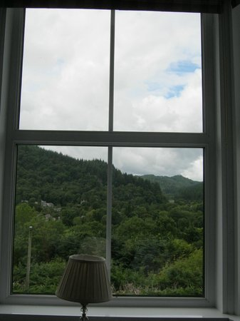 Llety Betws: View from the 'purple room'